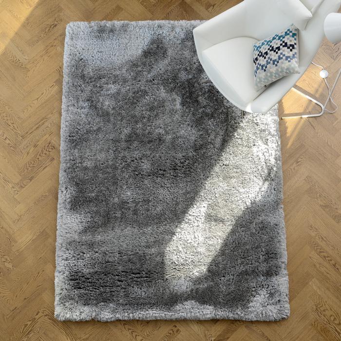 Opulent rug medium silver