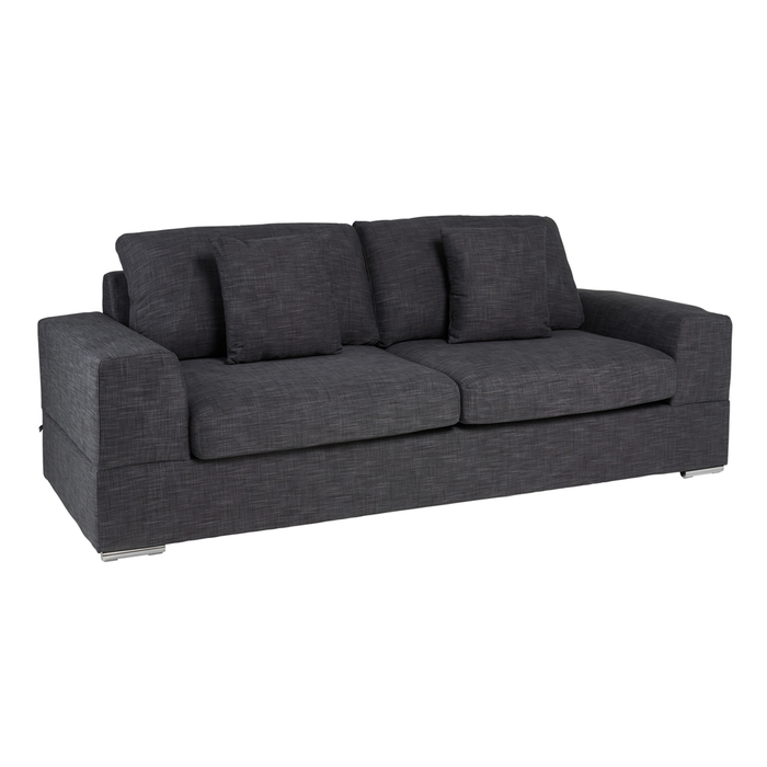 Verona three seater sofa bed slate