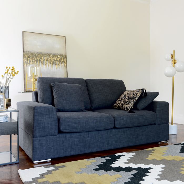 Verona two seater sofa bed slate