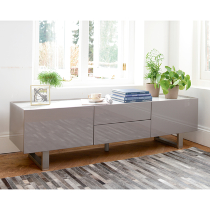 timeless design f4903 917c8 Trento Tv Unit Stone Gloss And Marble Ceramic | dwell - £599