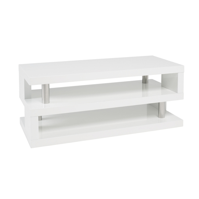 Contour coffee table white