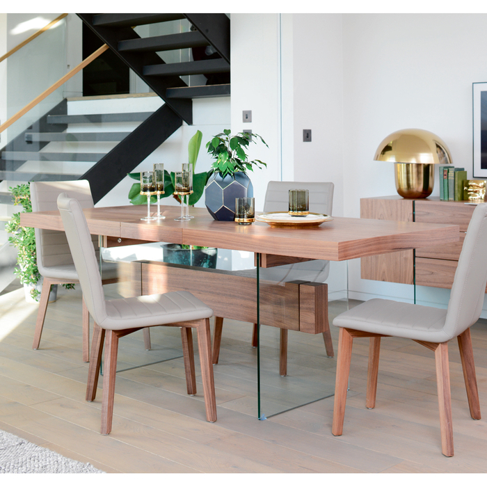 size 40 630a1 a07af Treble Extending 6-8 Seater Dining Table Walnut | dwell - £449