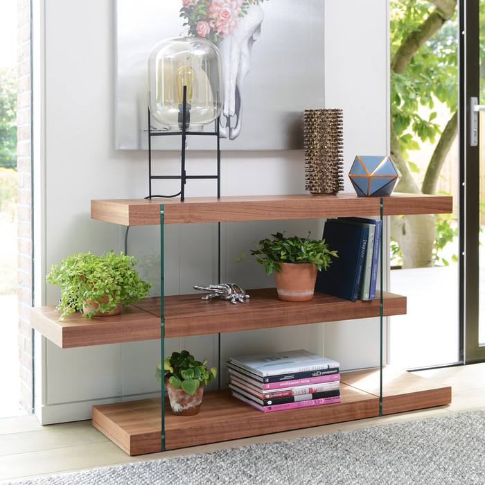 Treble low shelving walnut