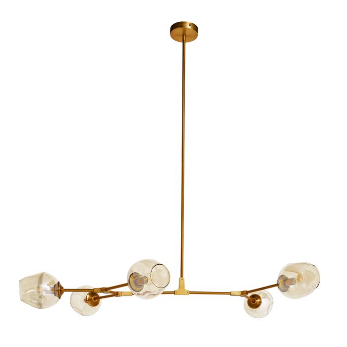 Molecule five shade pendant light