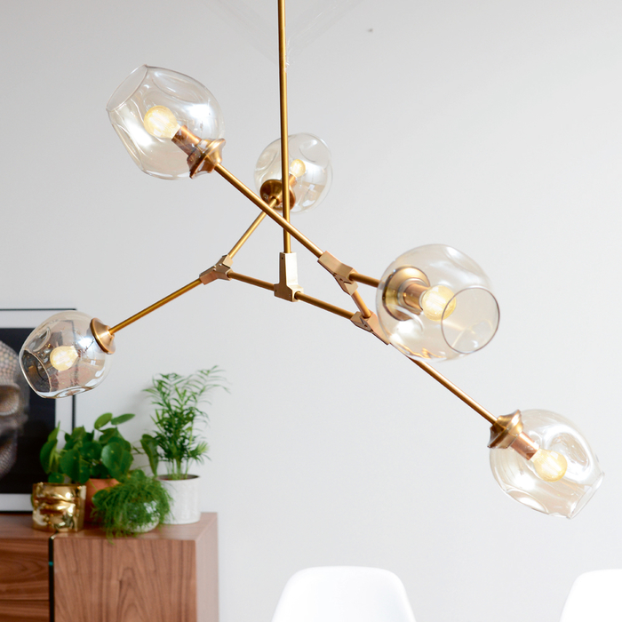 Molecule five shade pendant light