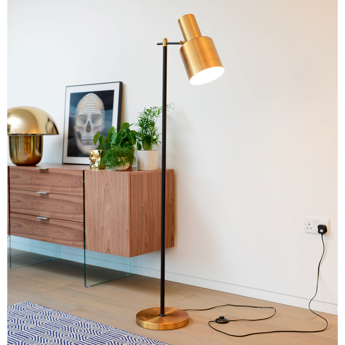 Lugo brass floor light