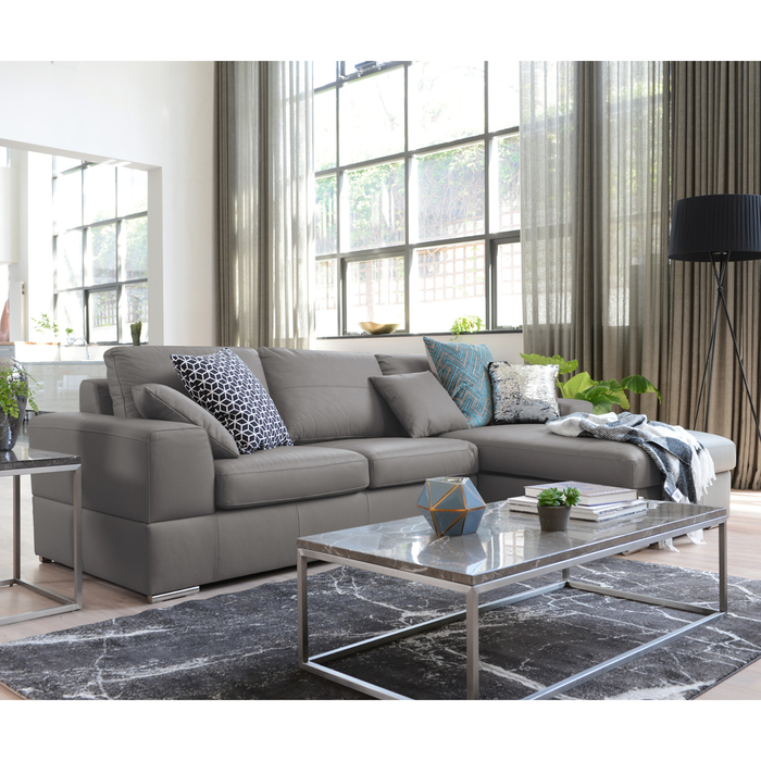 Verona Leather Right Hand Corner Sofa Bed With Storage