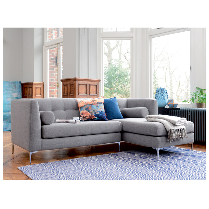 Lyon right hand corner sofa grey fabric