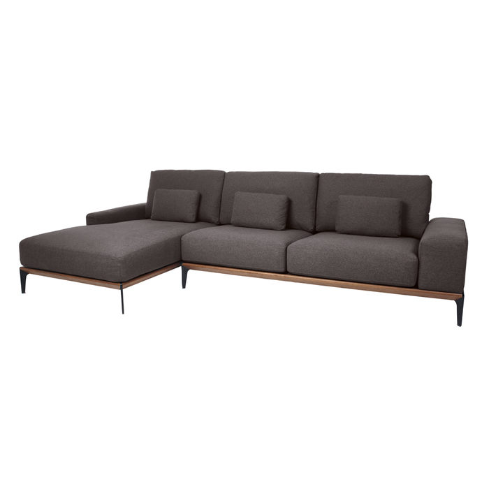 Malmo left hand corner sofa dark grey