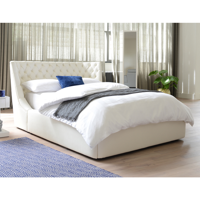 Cavendish storage bed double off white