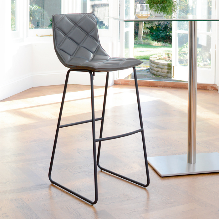 Portela bar stool grey