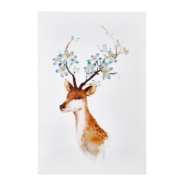 Floral stag art
