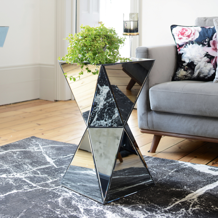 separation shoes fafc5 558db Espello Smoked Mirrored Side Table | dwell - £99