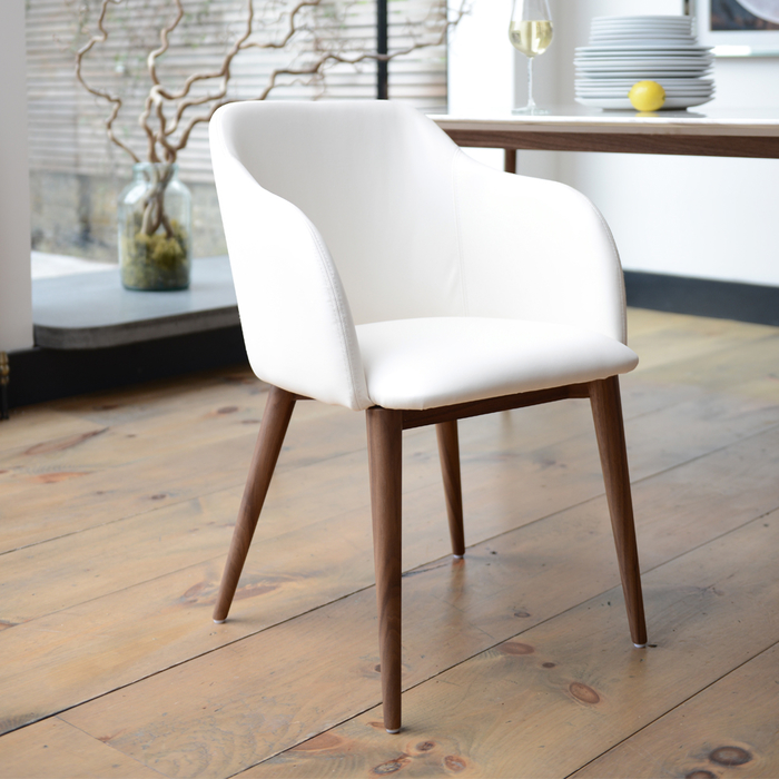 Dip dining chair white