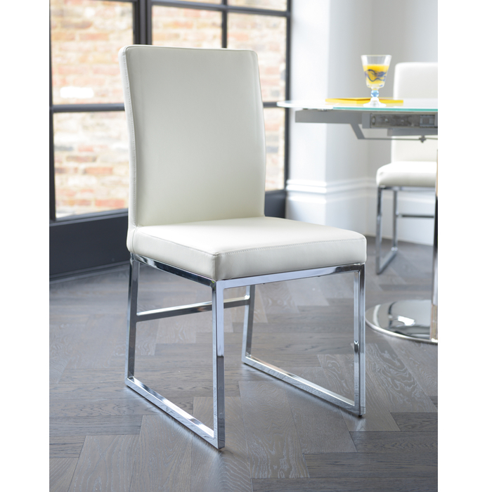 Loop leg dining chair white