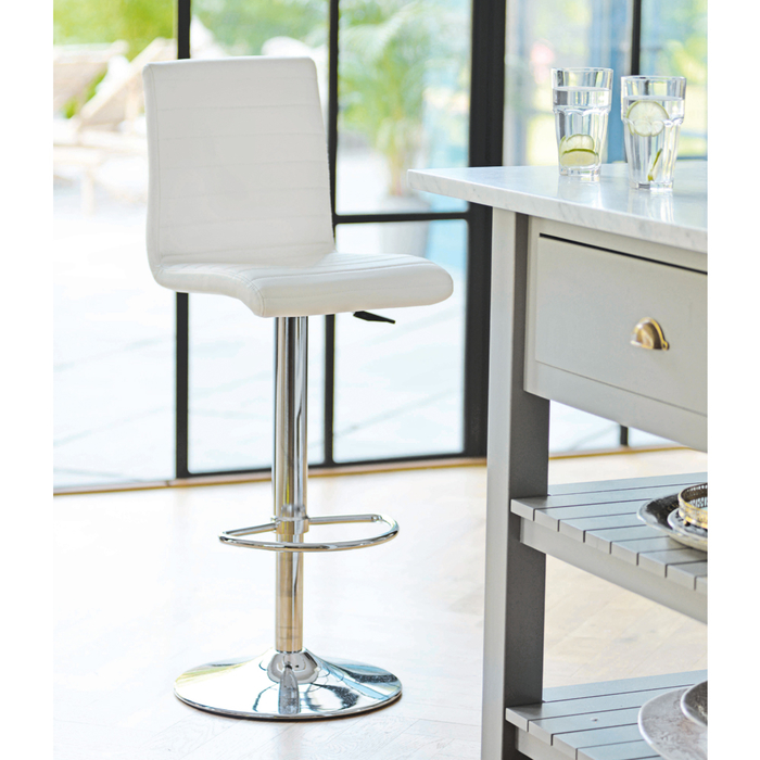 Ripple bar stool white