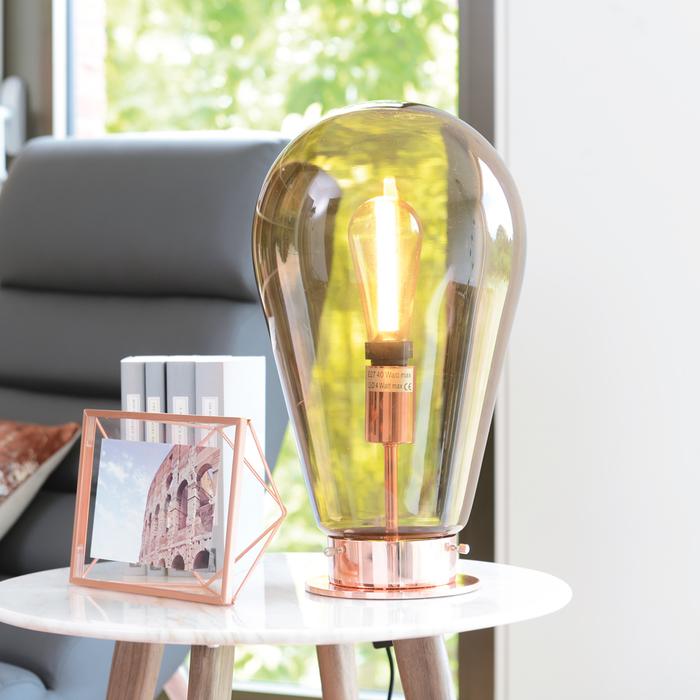 Bulb table light copper