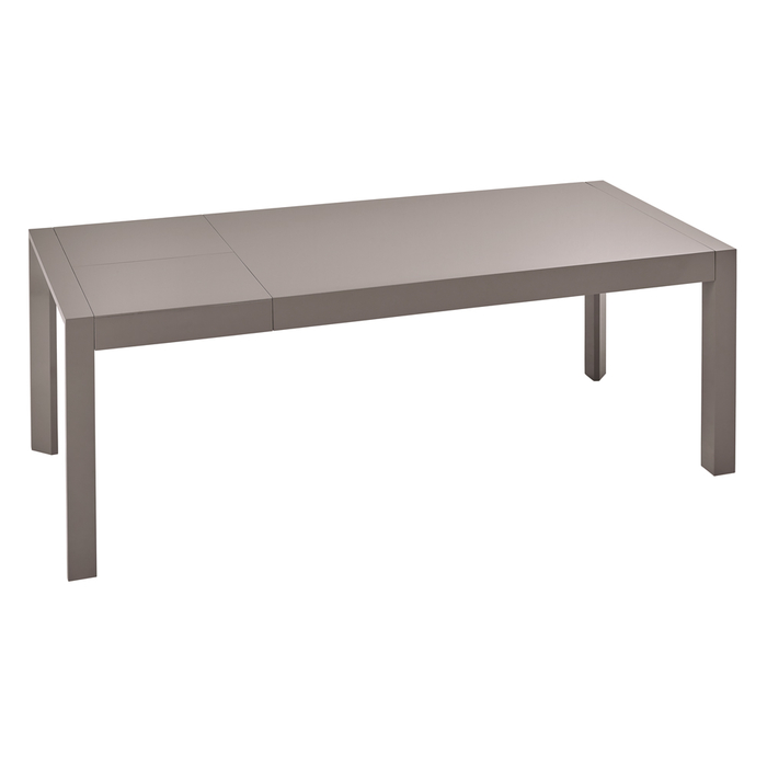 Extending 6-8 seater dining table stone gloss