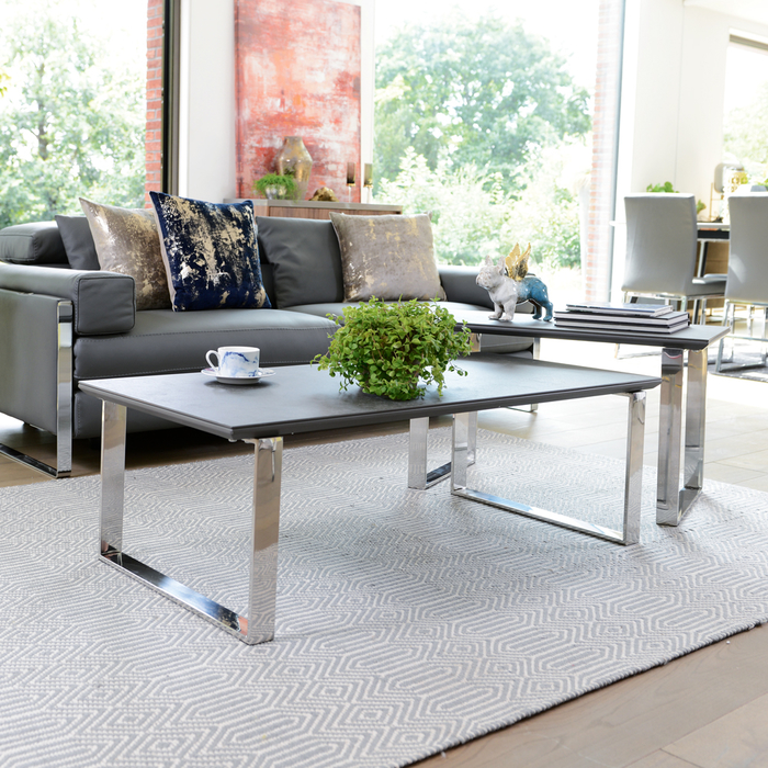 Dwell Coffee Table.Span Ceramic Coffee Table Set Slate Dwell 399