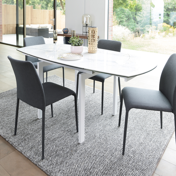 Lexington Extending Marble Effect Ceramic 4 6 Seater Dining Table | Dwell    £995