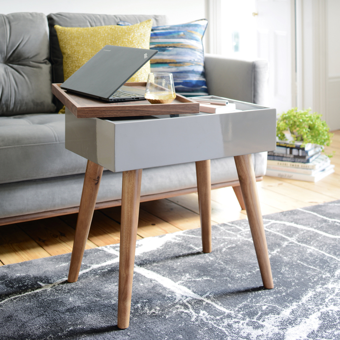 Varde side table with storage