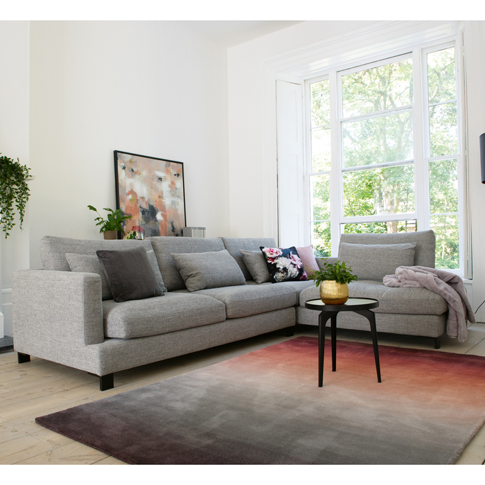 Lugano right hand corner sofa grey