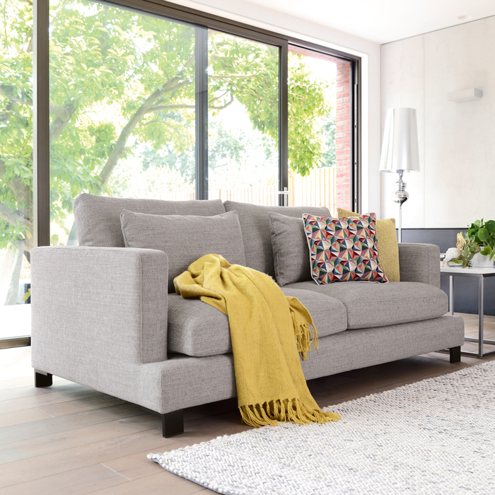 Lugano three seater sofa grey
