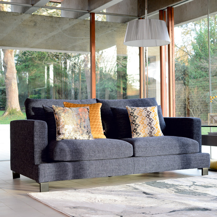 Lugano three seater sofa charcoal