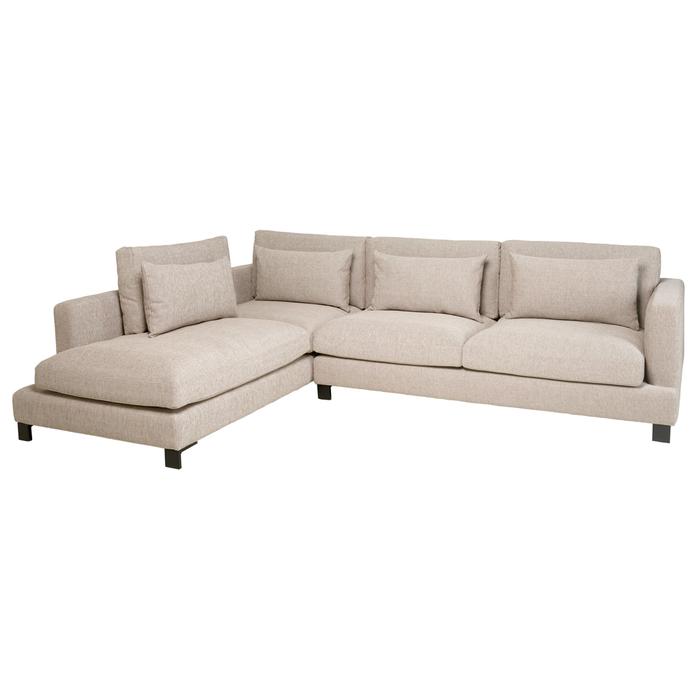 Lugano left hand corner sofa sand