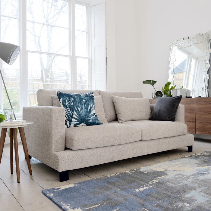 Lugano three seater sofa sand