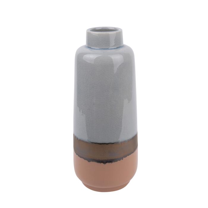 Crackle ceramic vase