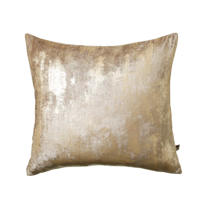 Blur metallic cushion champagne