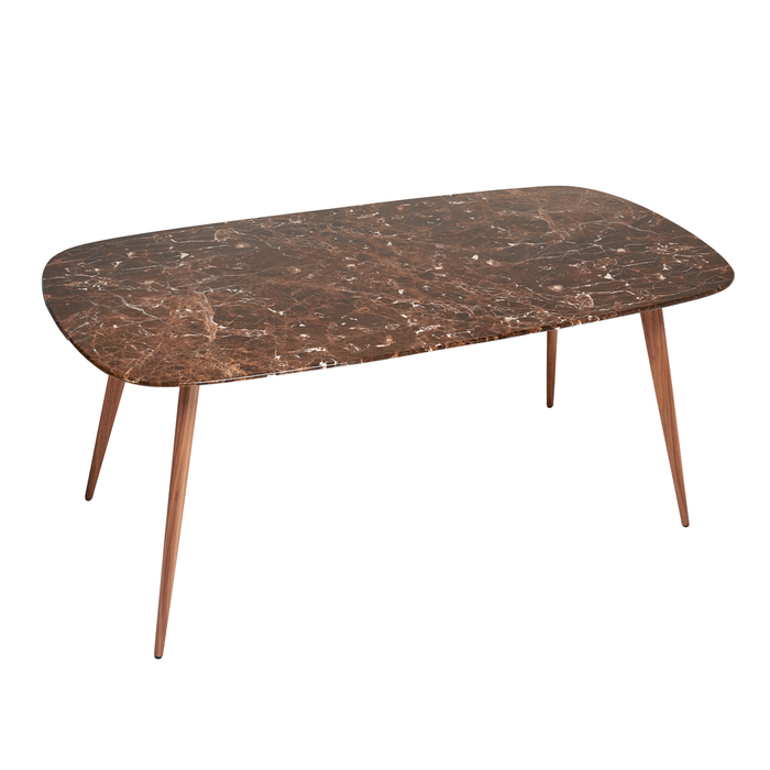 Lucerne mocha marble 6 seater dining table rectangle