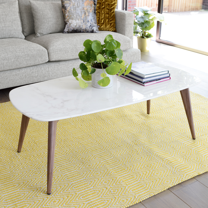 Marble Coffee Table Uk: Lucerne White Marble Coffee Table