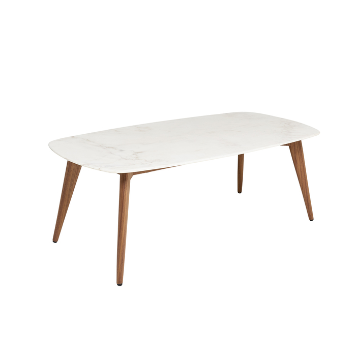 Lucerne white marble coffee table