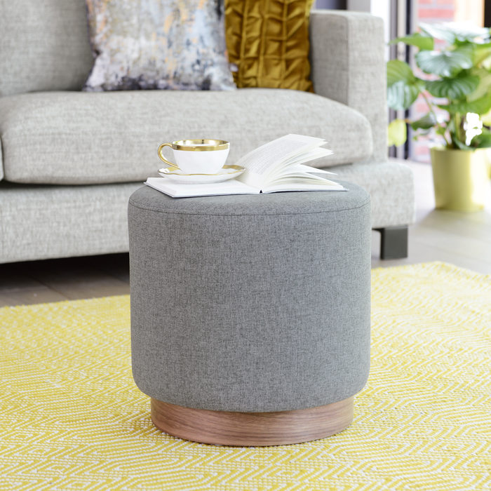 Duo stool grey fabric