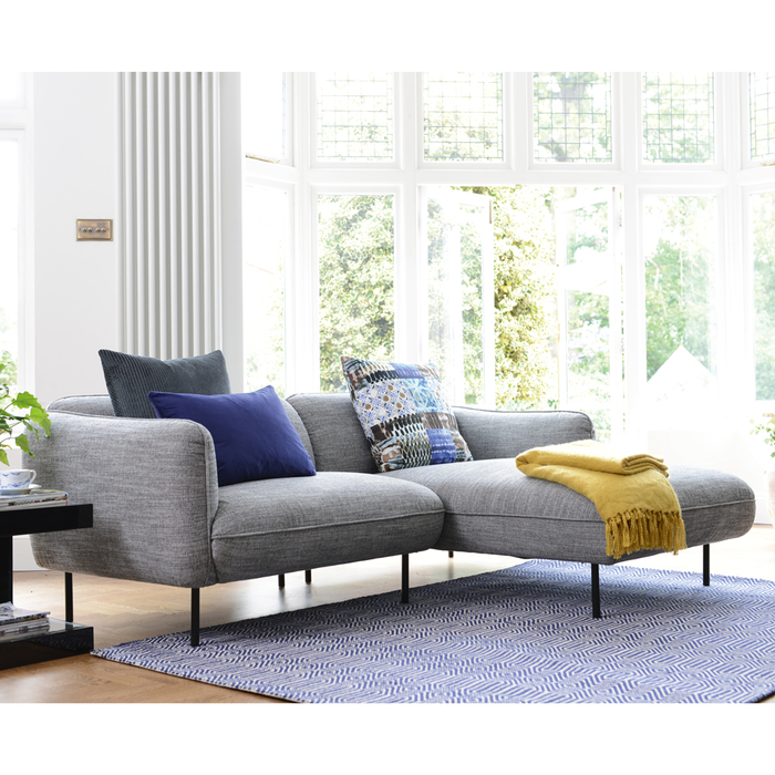 Valletta right hand corner sofa dark grey