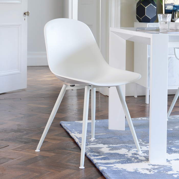 Treviso dining chair white with white leg