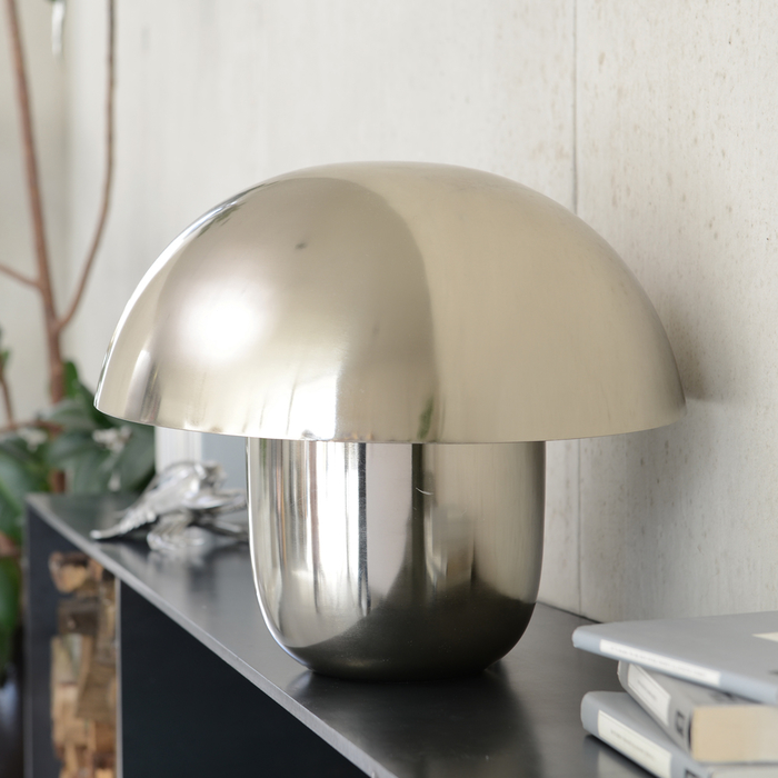 Mushroom table light silver small