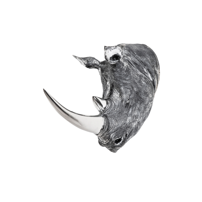 Rhino head wall decoration