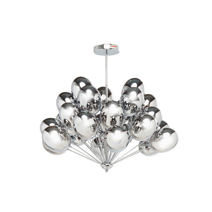 Balloons pendant light silver
