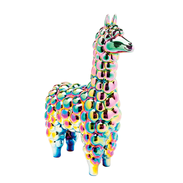 Iridescent alpaca money box