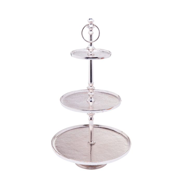 Three Tier Silver Etagere Dwell