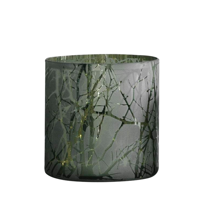 Branches tealight holder olive