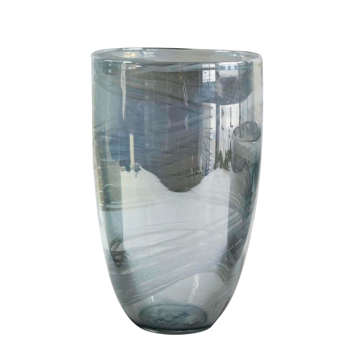 Whirl silver vase