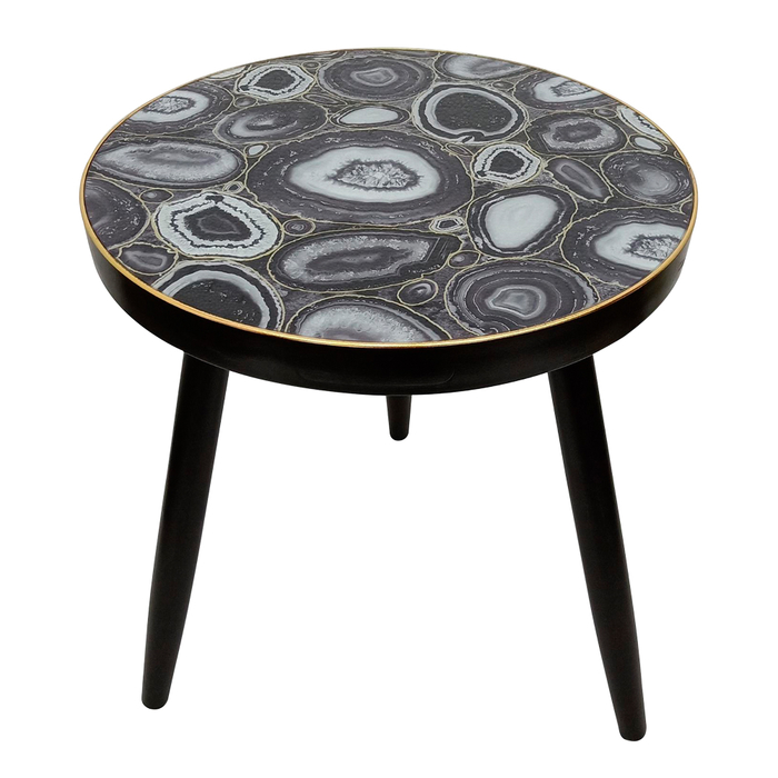 Fossil top side table grey
