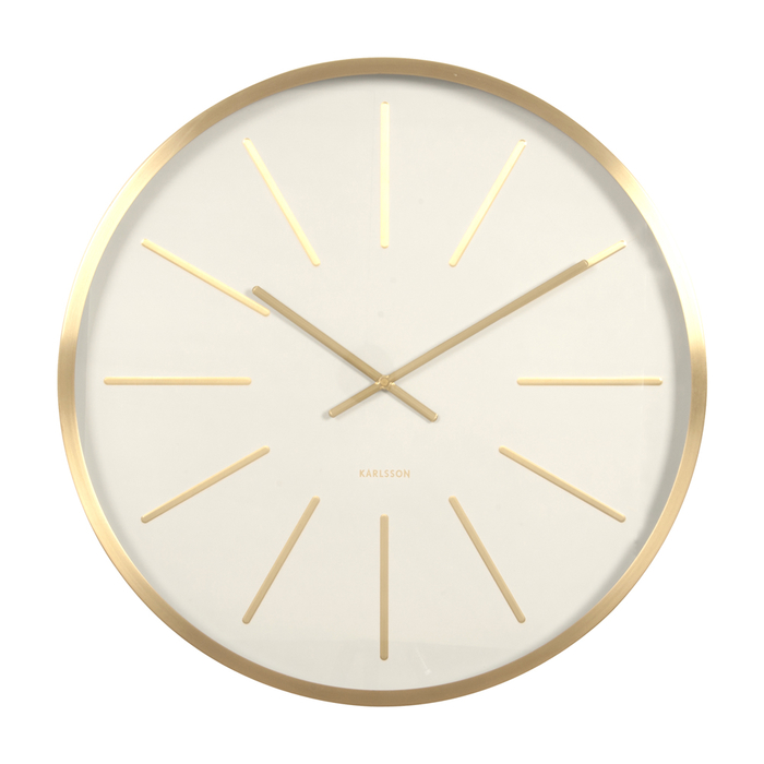Mode wall clock gold