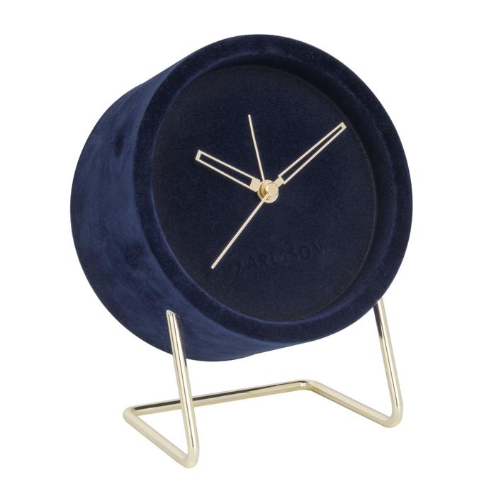 Velvet alarm clock blue
