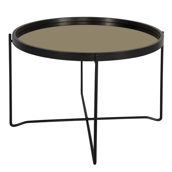Speculo mirror top side table gold