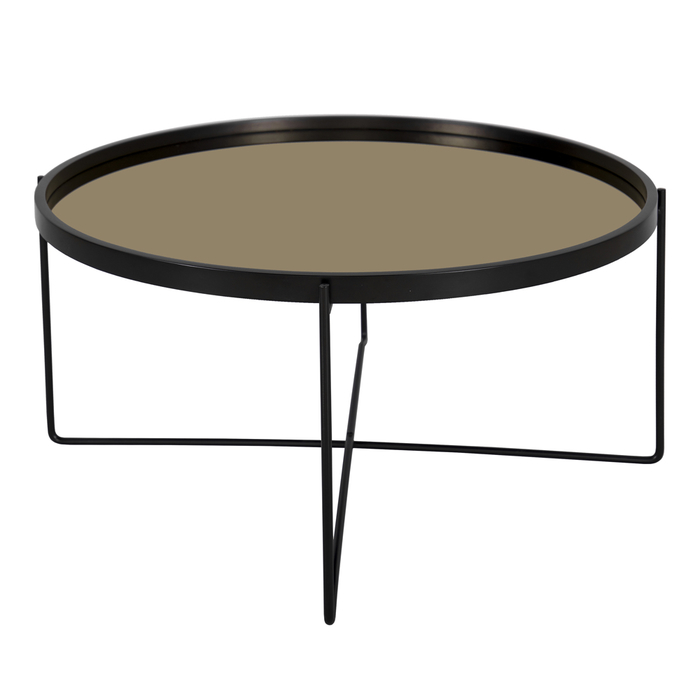 Speculo mirror top coffee table gold
